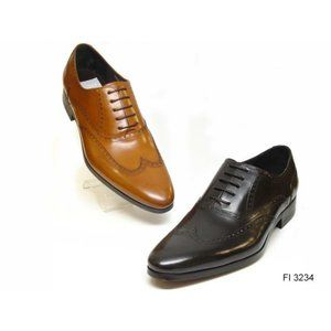 NWB Encore Fiesso Leather GLD Wing Tip Shoe FI3234